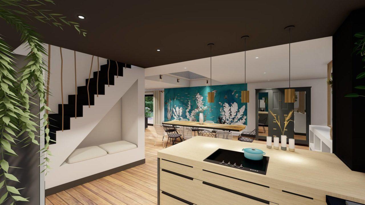 cuisine papier peint panoramique