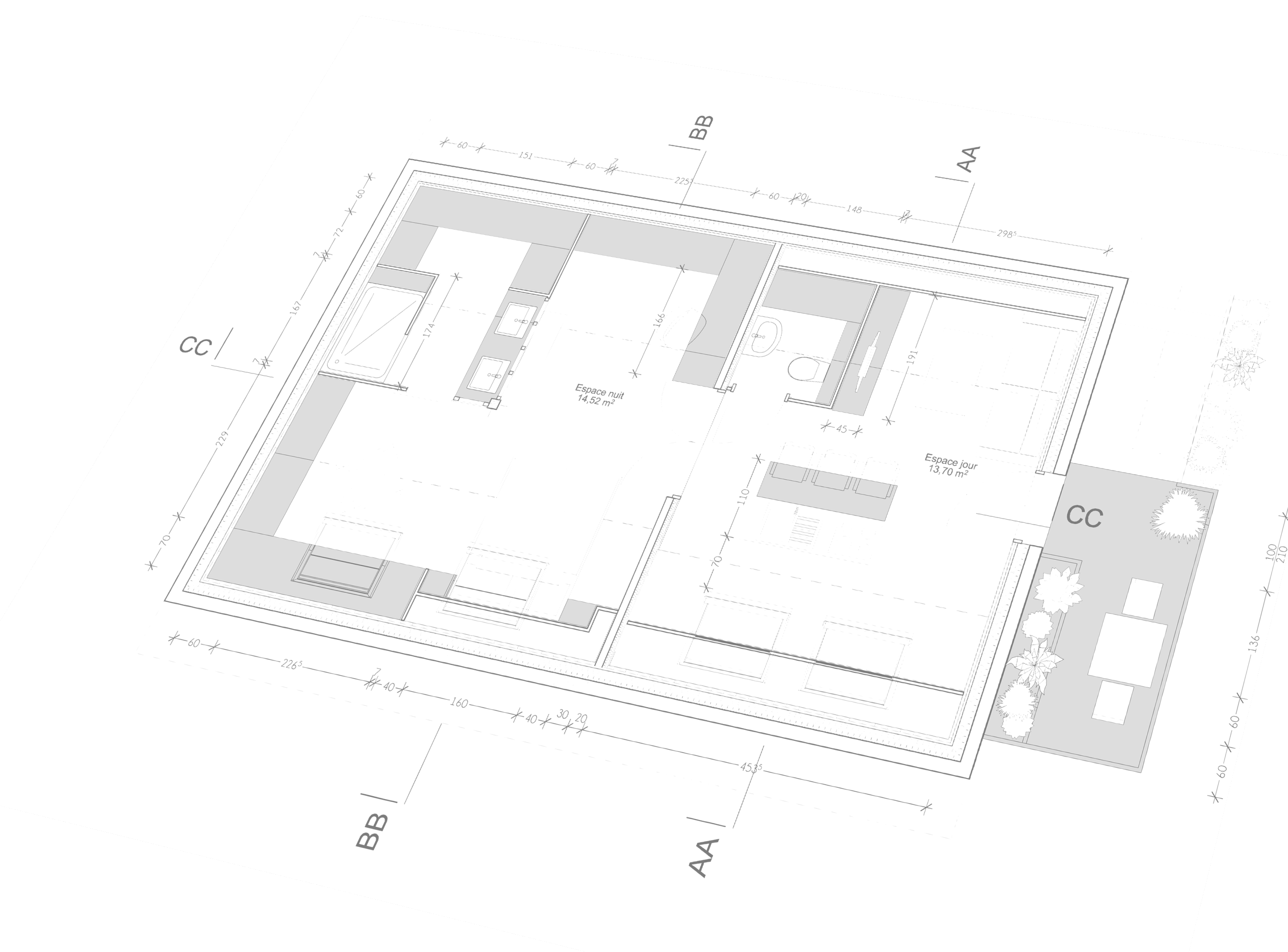 Plan de maison version dessin