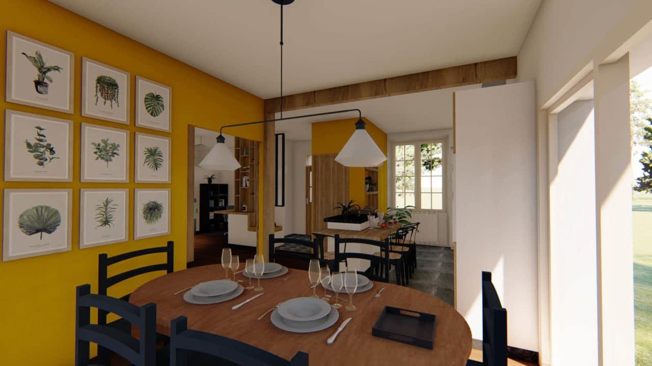 Architecture d'intérieur - Salle à manger contemporaine