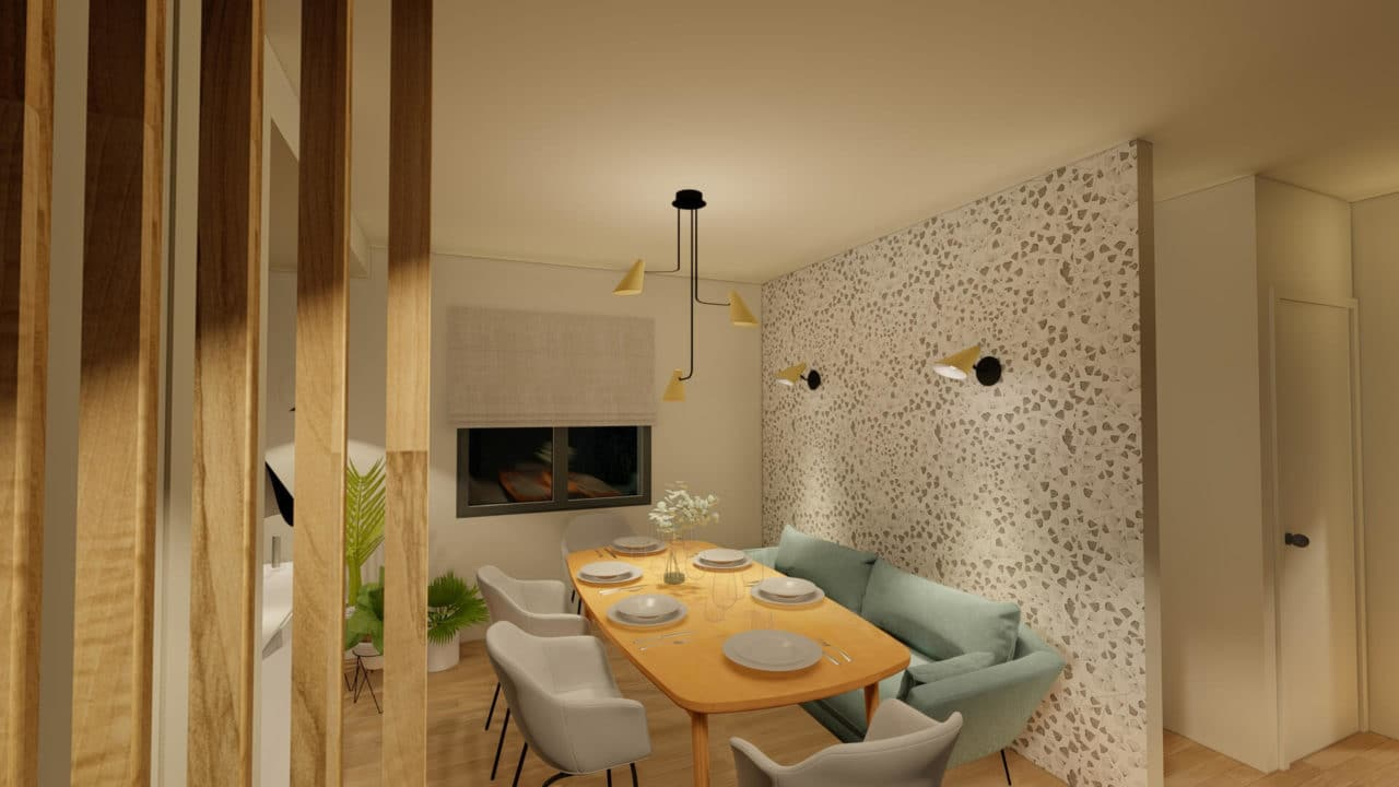 Architecture d'intérieur - Salle à manger Papier peint Miss Print