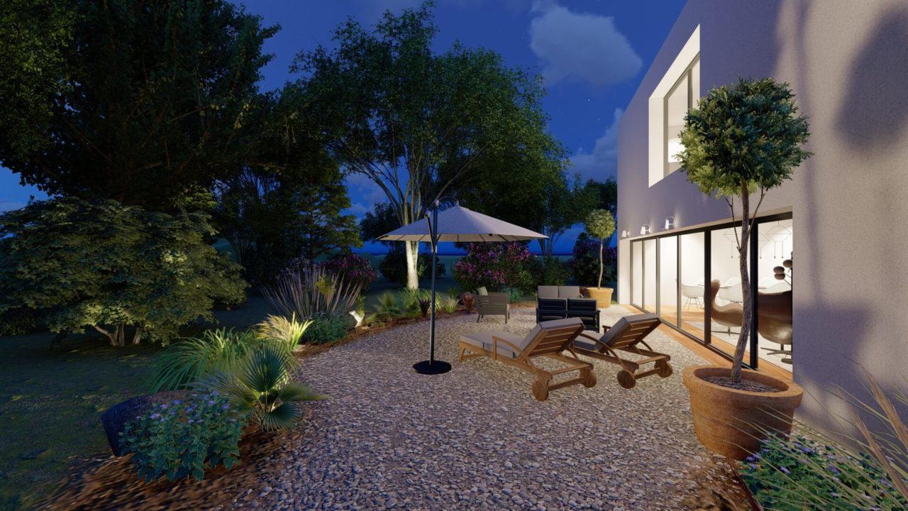 Architecture d'intérieur - Maison contemporaine - extérieur