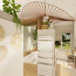 Architecture d'intérieur - Salle de bains Bohème - suspension