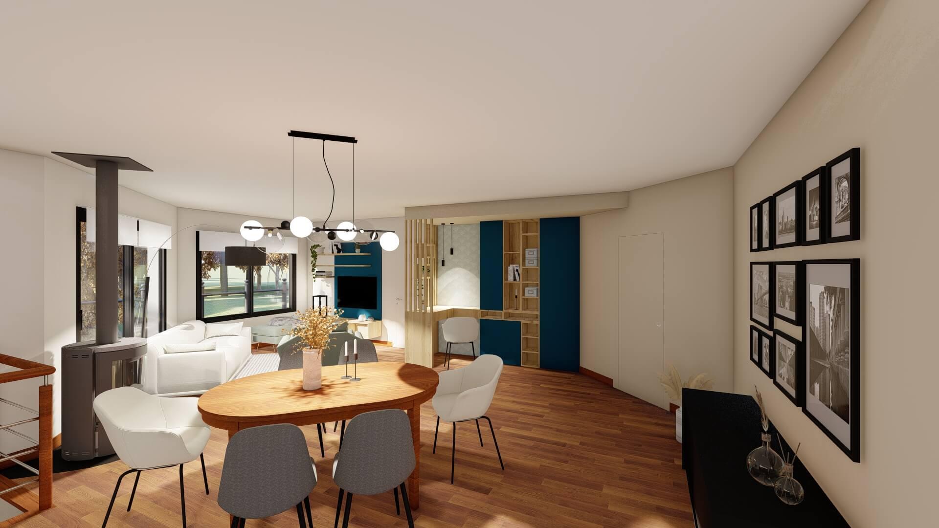 meuble sur mesure salle à manger
